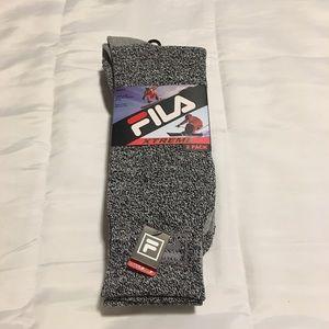 New Mens fila 2 pack of boot socks